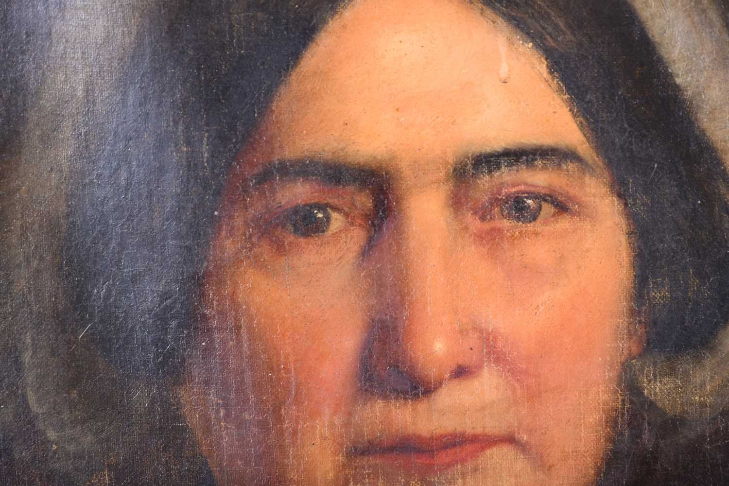Lot 7 - Attributed to Fortunio Matania (1881-1963) Italian, a portrait of a woman, oil on canvas in a part