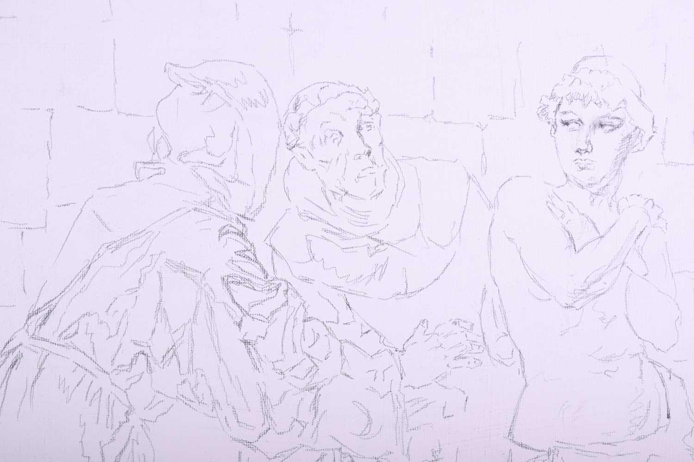 Lot 50 - Franco Matania (1922-2006) Italian/British, an artist's folio full of working pencil and pastel