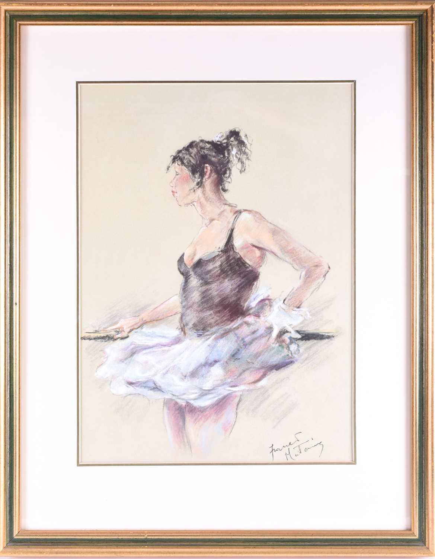 Lot 29 - Franco Matania (1922-2006) Italian/British, a group of three pastel drawings of ballerinas, each