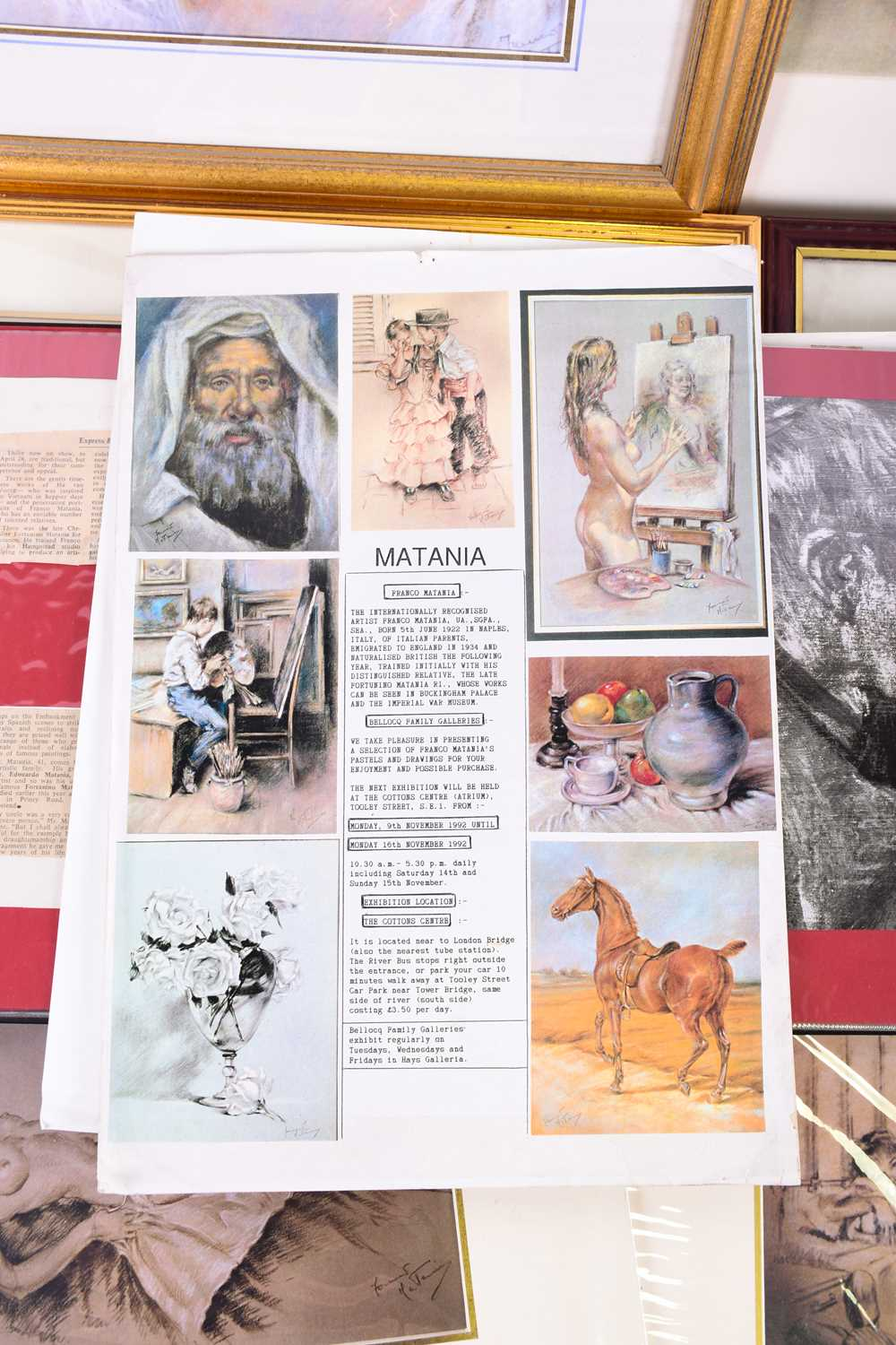 Lot 37 - A quantity of archive material relating to the life and work of artist Franco Matania (1922-2006),