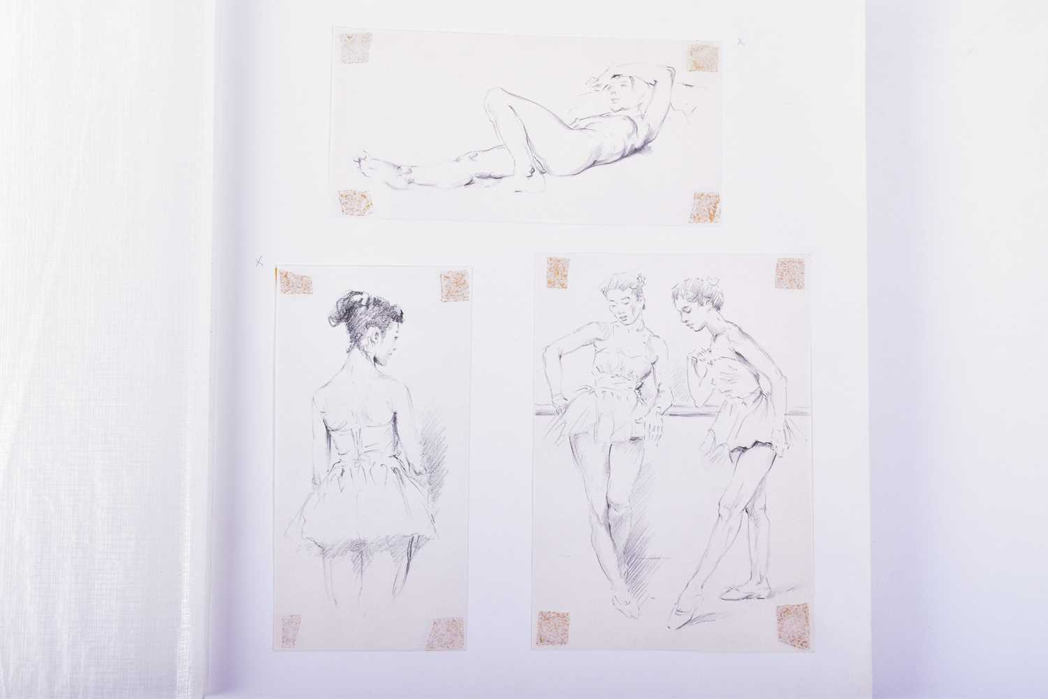 Lot 56 - Franco Matania (1922-2006) Italian/British, a finely bound album of original sketches and