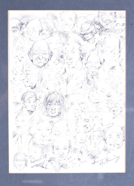 Lot 42 - Franco Matania (1922-2006) Italian/British, a comic group of sketches 'Aspects of Carmen',