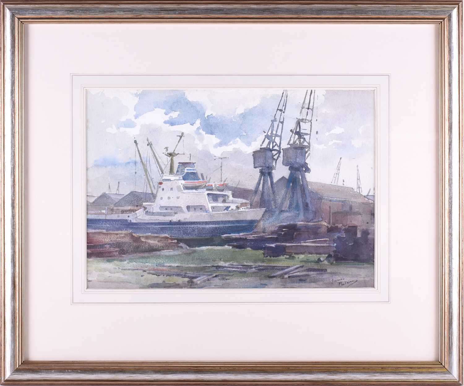 Lot 23 - Franco Matania (1922-2006) Italian/British, a group of three boat-related pictures including a