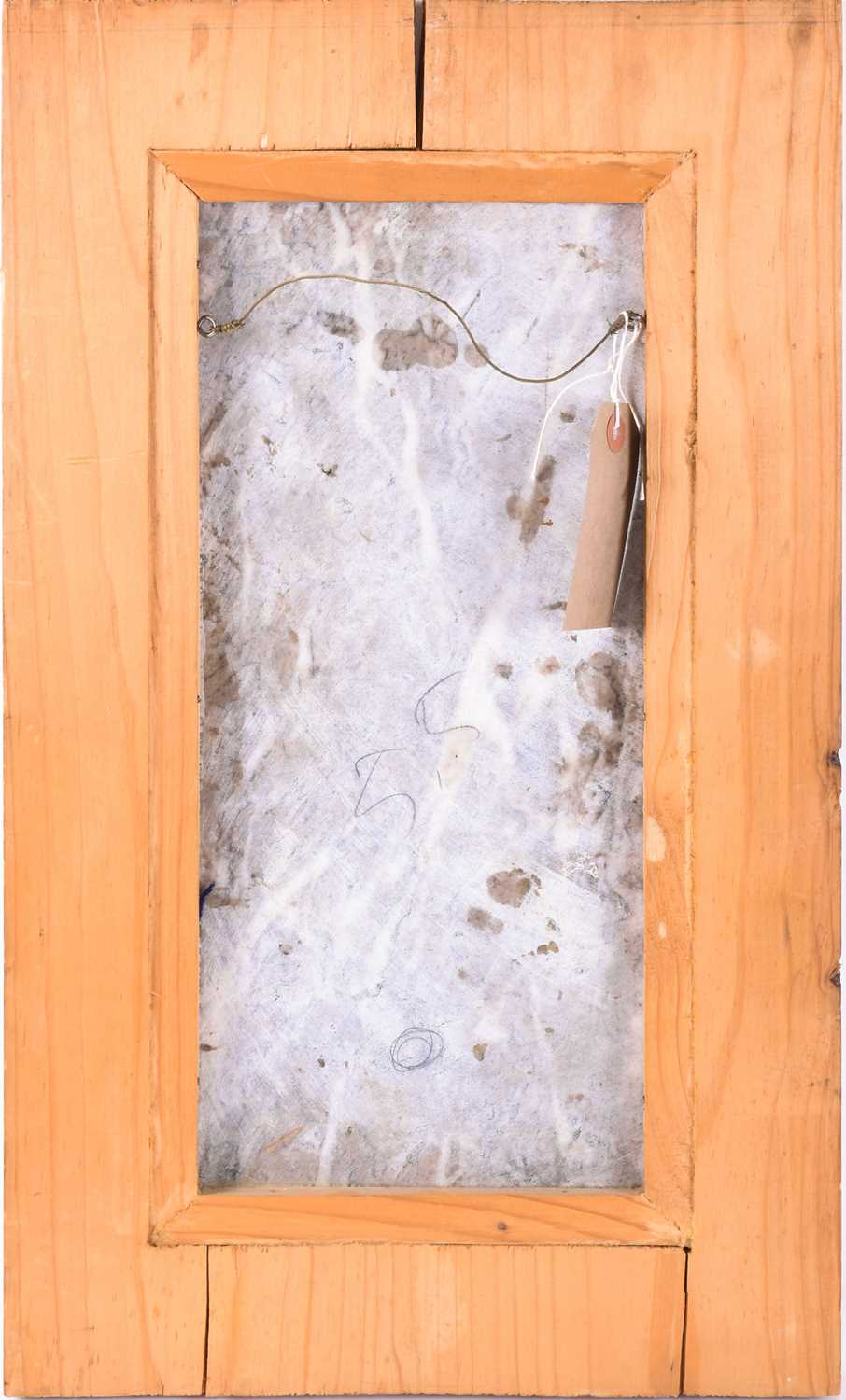 Lot 59 - Tullia Matania (XX), an unusual marble plaque hand-etched/incised with the outline of a horse, inset