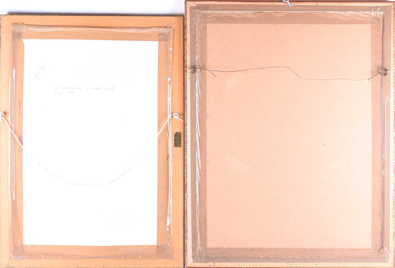 Lot 40 - Franco Matania (1922-2006) Italian/British, two pastel studies of seated female nudes, each framed