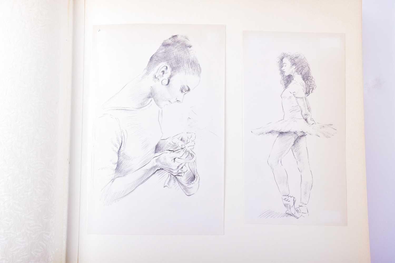 Lot 17 - Franco Matania (1922-2006) Italian/British, a finely bound album of original sketches and