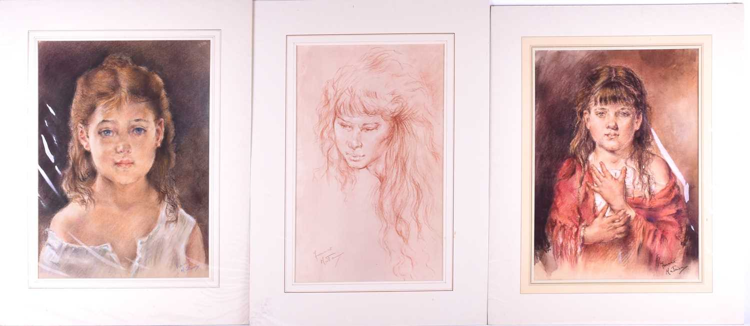 Lot 41 - Franco Matania (1922-2006) Italian/British, a group of eight pastel sketches and portraits of