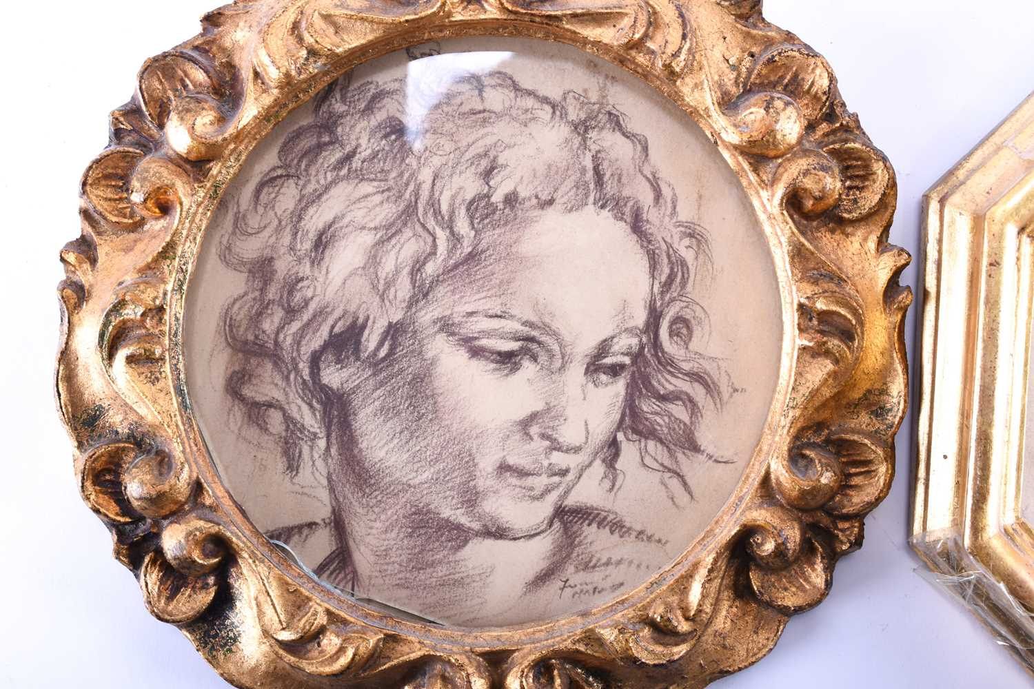 Lot 60 - Franco Matania (1922-2006) Italian/British, two old master style pastel sketches of classical