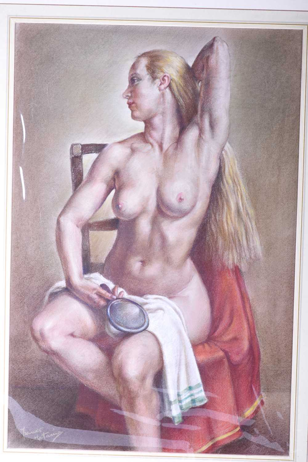 Lot 48 - Franco Matania (1922-2006) Italian/British, a group of eight pastel sketches and portraits of nude