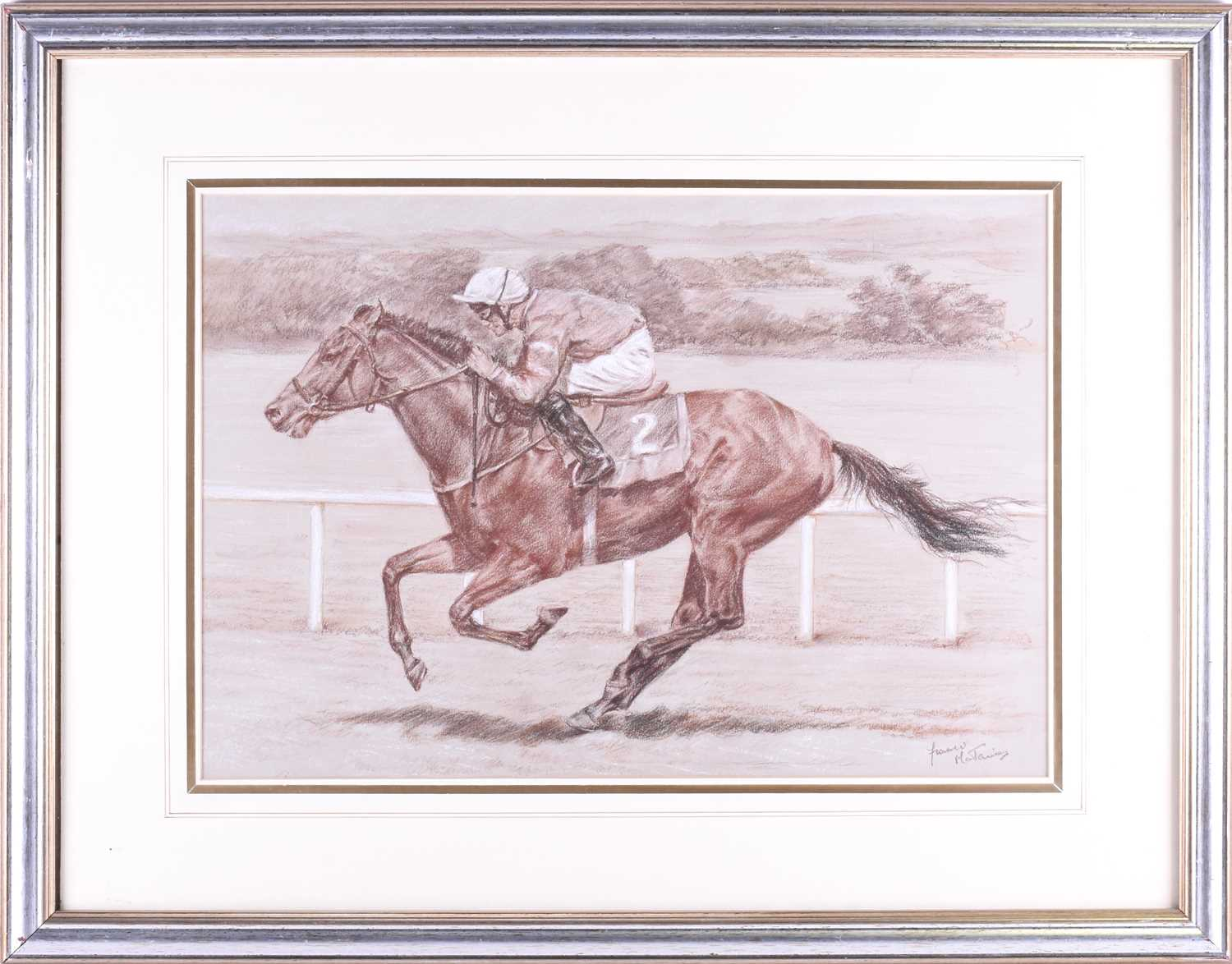 Lot 36 - Franco Matania (1922-2006) Italian/British, a group of three horseracing related pictures of '