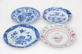 A Chinese blue & white 'Kraak' plate, 17th/18th century, 中国,青花'克拉克'盘一件,17/18世纪,及其他 decorated with