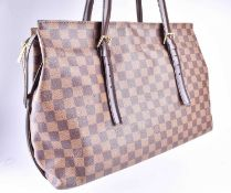 A Louis Vuitton late 20th century handbag, of rectangular design, with monogram leather, brown