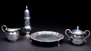 A late Victorian silver sugar sifter, London 1895 by Stokes & Ireland Limited, of typical ocatagonal