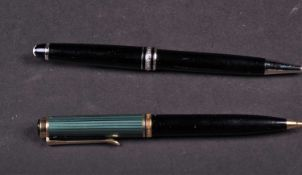 A Mont Blanc Meisterstuck propelling pencil, the black resin body with chrome fittings, together