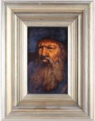 Ken Moroney (1949-2018) British, a portrait of an elderly bearded man, oil on board, signed to lower