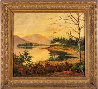 19th century English school, Friars Crag, Derwentwater, Keswick, unsigned, oil on canvas, 35.8cm x
