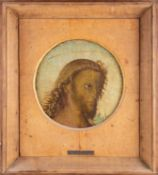 Attributed to Antonio Pollaiuolo (1433-1498) Italian, a circular portrait of Christ, oil on panel,
