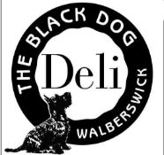 A Black Dog Deli hamper filled with a selection of savoury and sweet treats carefully chosen by
