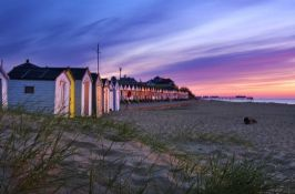 A Day by the Seaside in Bernard the Southwold Beach Hut. Situated at the bottom of the Nelson