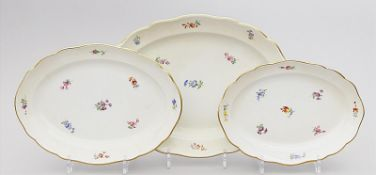 Drei ovale Platten, Meissen,