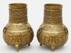 Paar Vasen im chinoisen Stil.