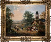 Große Biedermeier-Bilderuhr (Frankreich, um 1838).