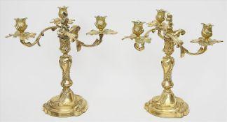 Paar Louis XV.-Girandolen,