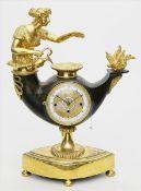 Feine Empire-Pendule mit Kalender, Carl Wurm/Wien.