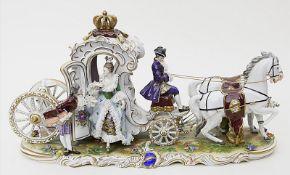 "Skulpturengruppe ""Ausfahrt der Prinzessin""."