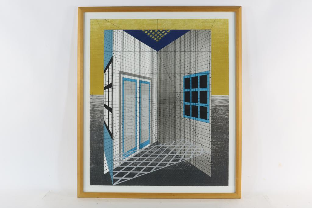 Lot 1728 - Jacobs, Henri (1957), signed and dated 1990, Salle a Dormir, screenprint 84 x 70 cm. Provenance