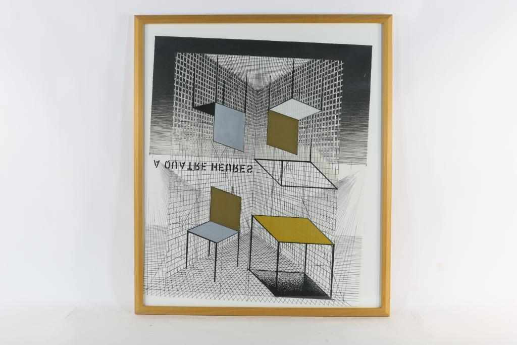 Lot 1727 - Jacobs, Henri (1957), signed and dated 1990, A quatre heures, screenprint 84 x 70 cm. Provenance KLM