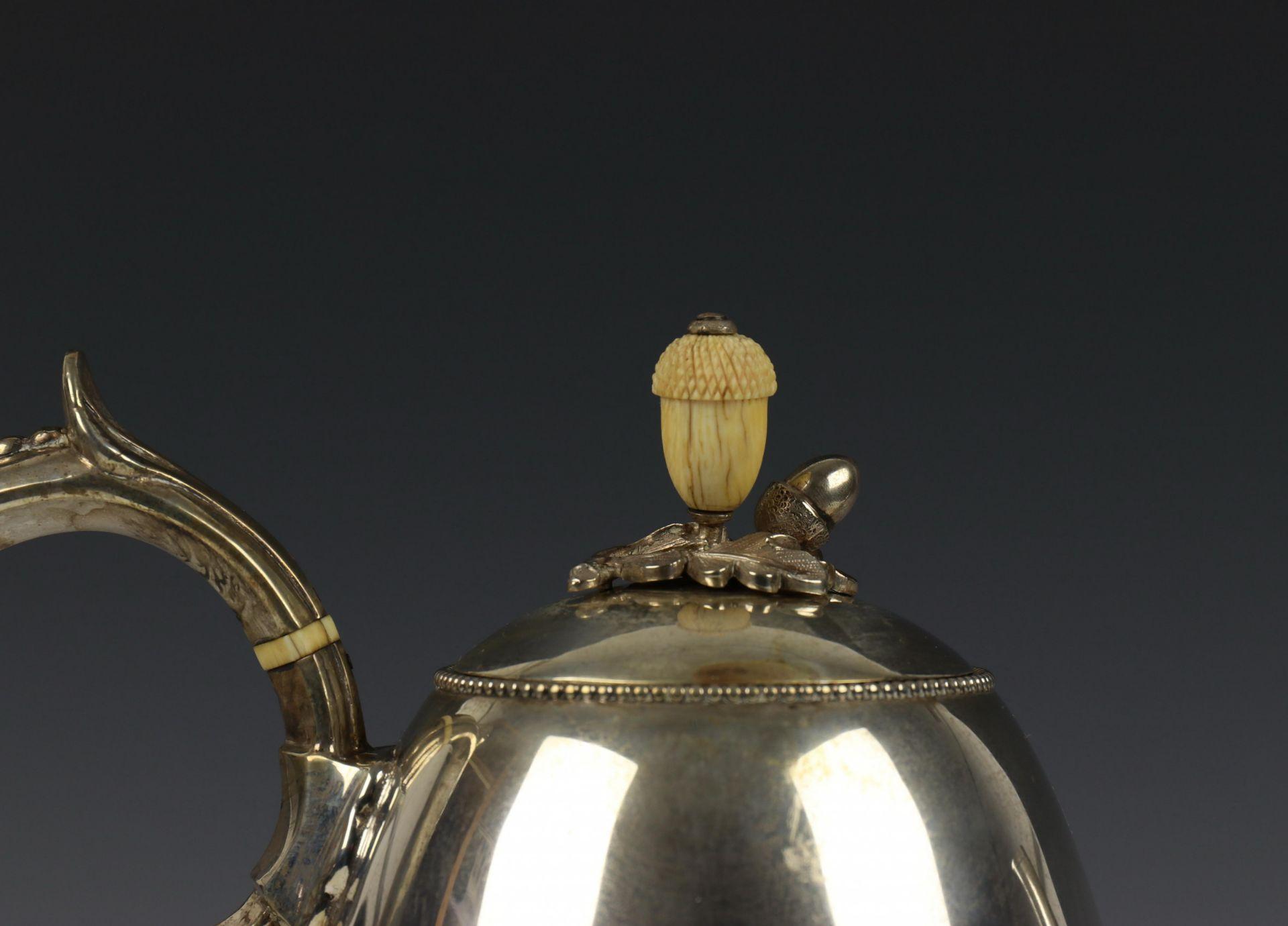 Vierdelig koffie- en theeservies, Fa. J.M. van Kempen, 19e eeuw, - Image 4 of 4
