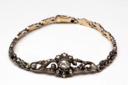 Zilveren en gouden armband, begin 20e eeuw,