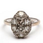 Witgouden ring, Art-Deco,