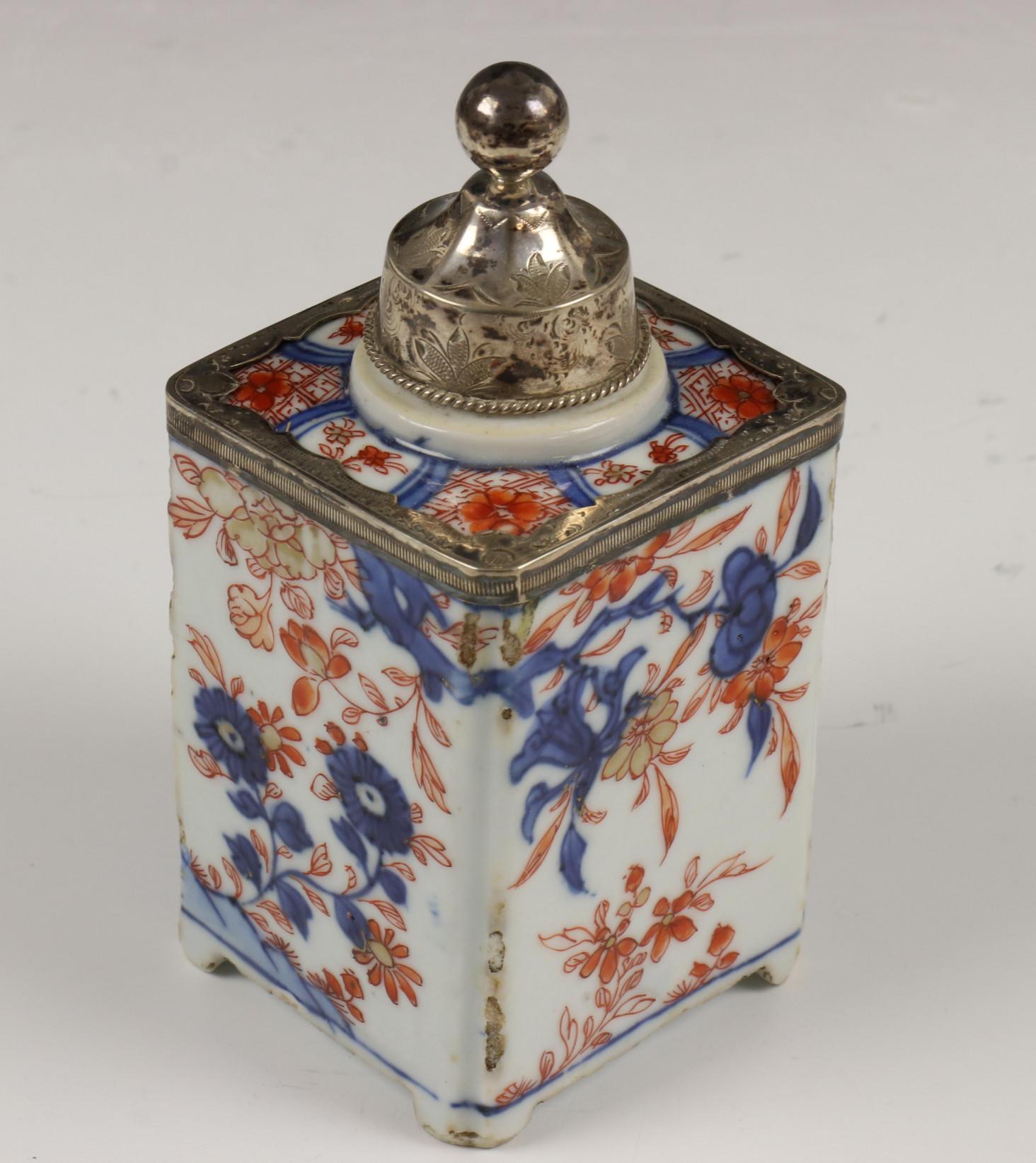 China, kantige Imari theebus, Qianlong, - Image 9 of 10