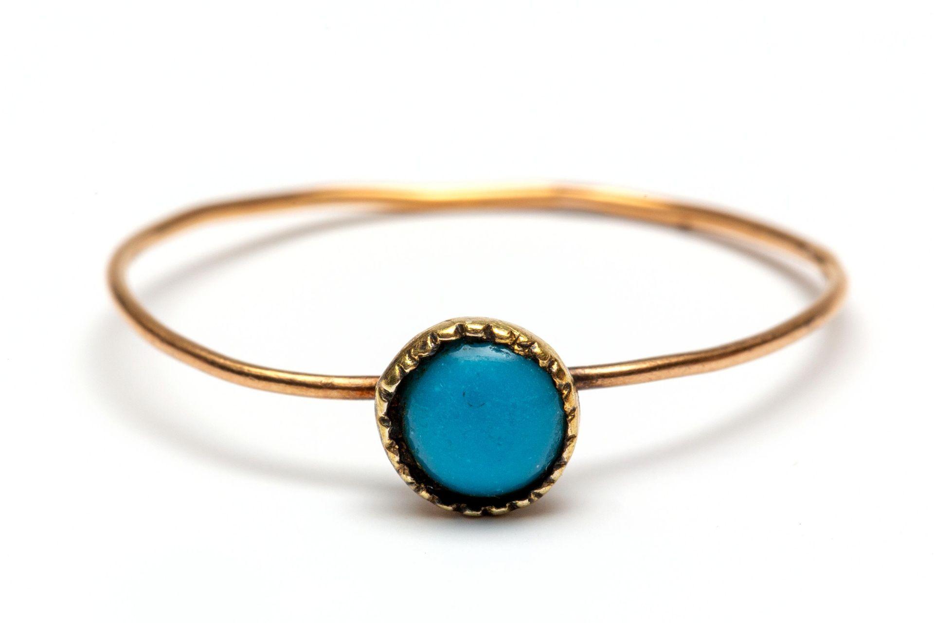 18krt. Gouden ring, rond 1800,