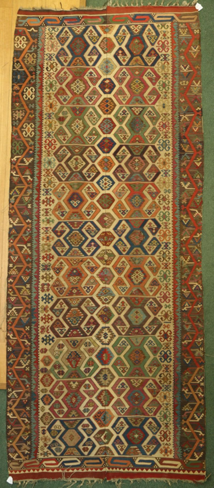 Antiek Anatolisch kelim kleed, eerste helft 19de eeuw
