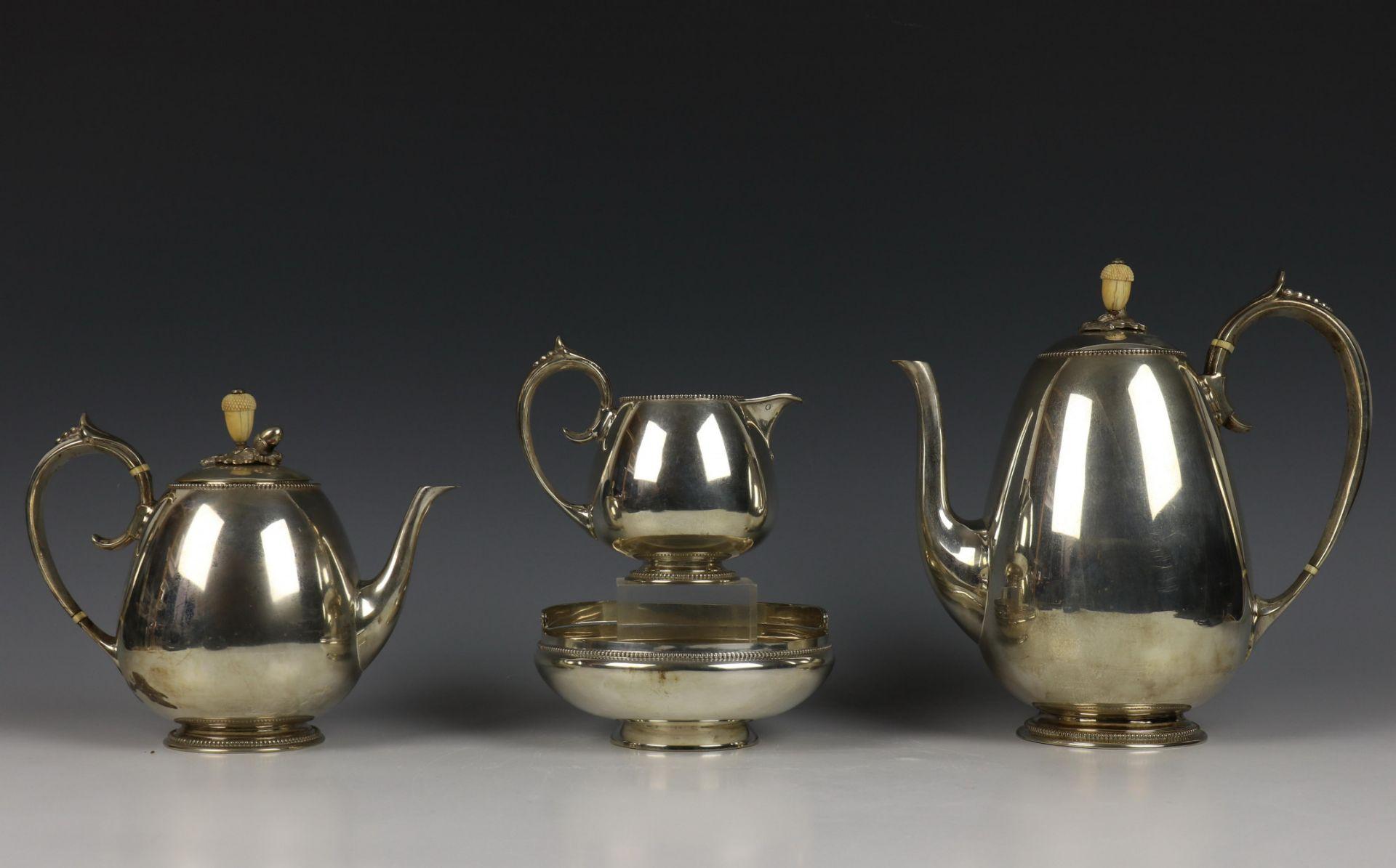 Vierdelig koffie- en theeservies, Fa. J.M. van Kempen, 19e eeuw,