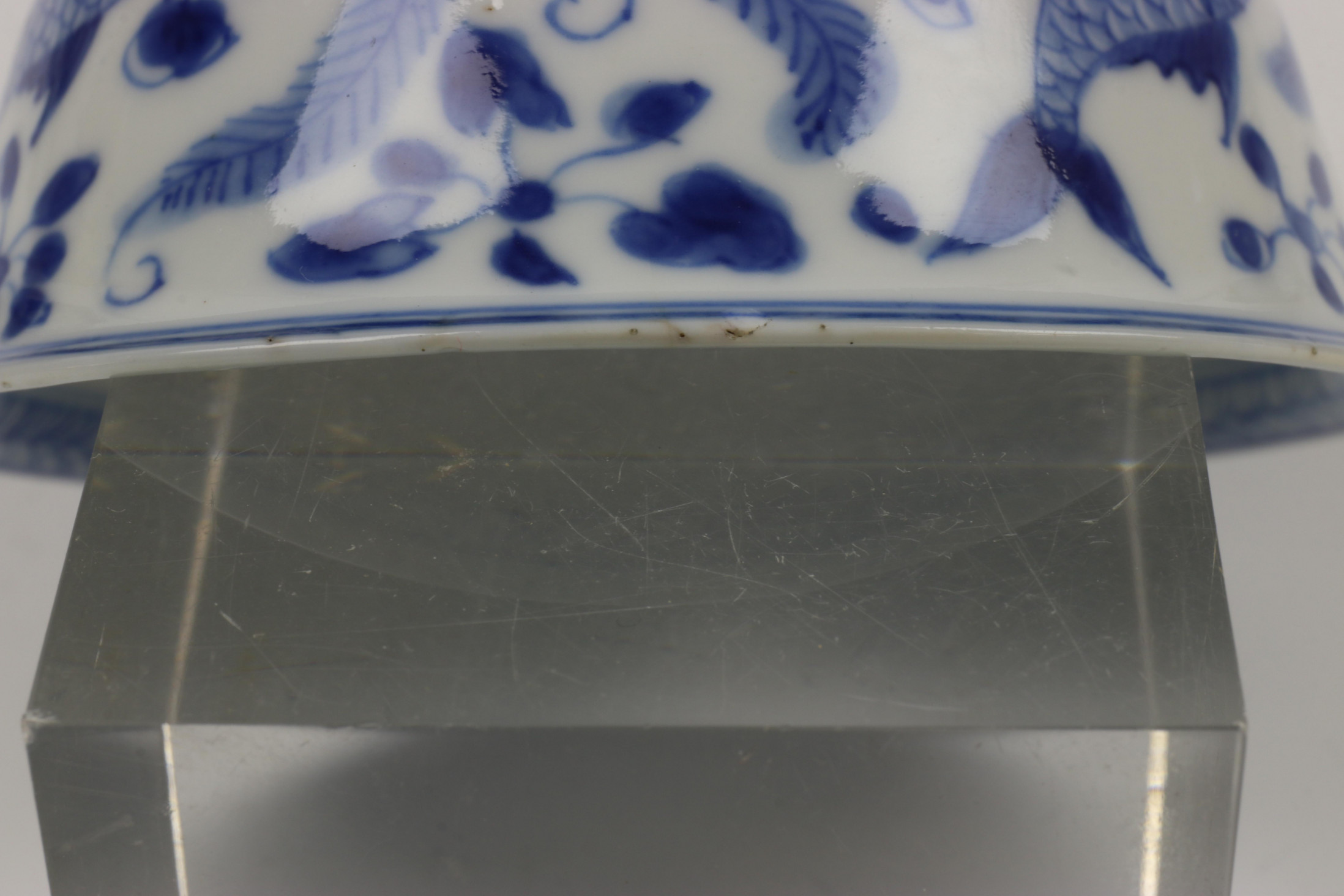 China, serie van tien blauw-wit porseleinen kop en schotels, 18e eeuw, - Image 3 of 16