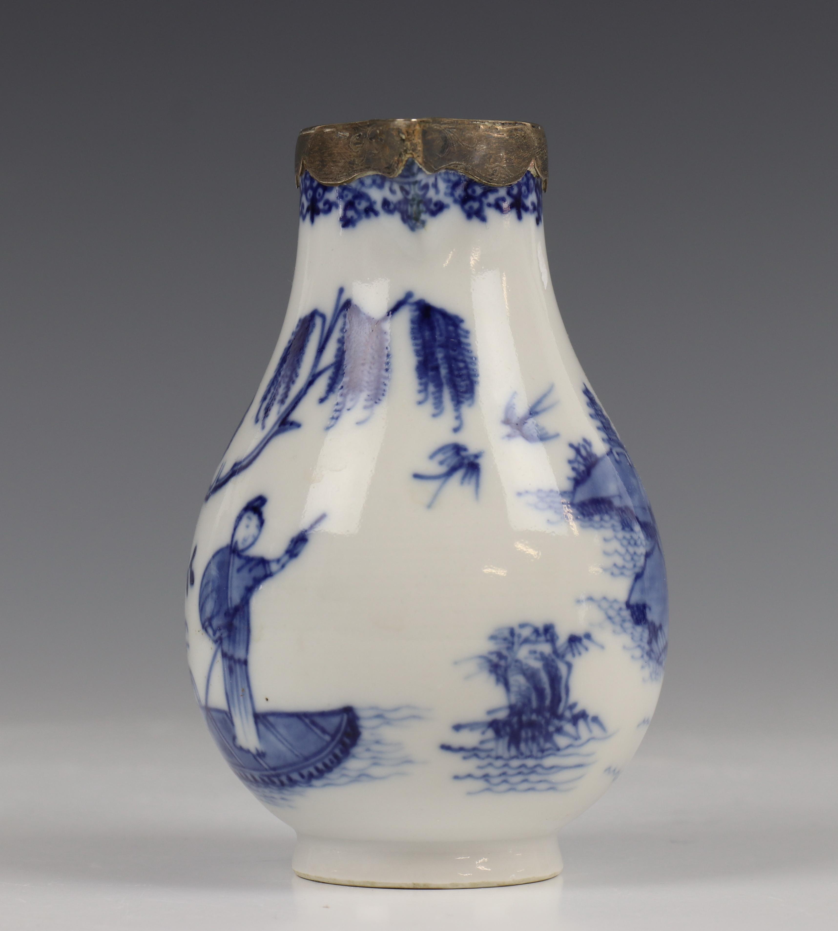 China, blauw-wit porseleinen trekpot, Imari trekpotje en melkkan, 18e eeuw, - Image 13 of 21