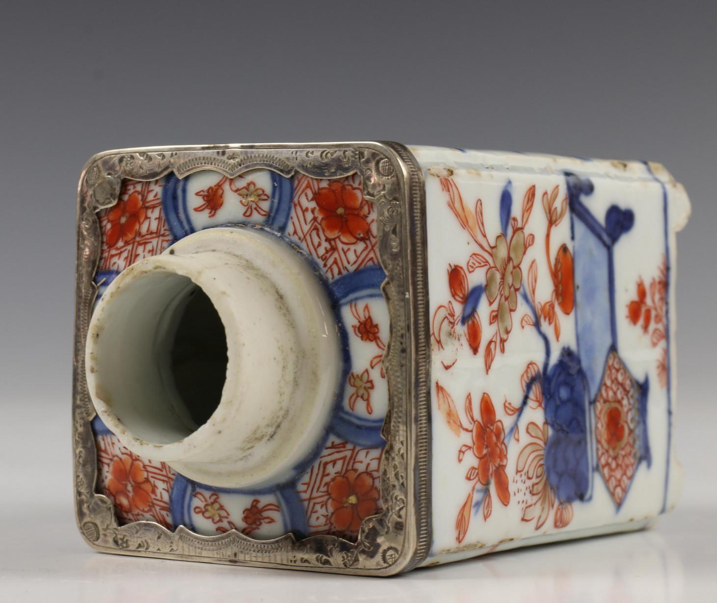China, kantige Imari theebus, Qianlong, - Image 3 of 10