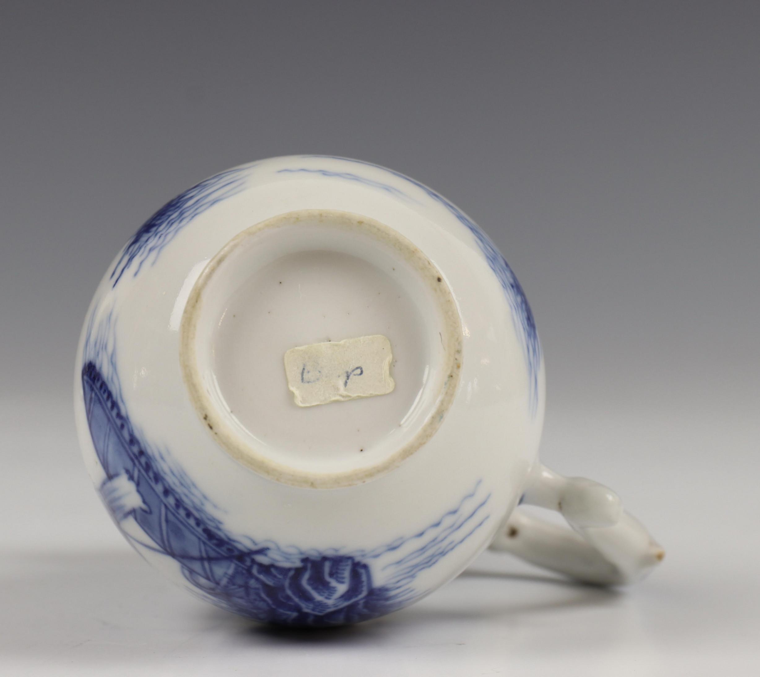 China, blauw-wit porseleinen trekpot, Imari trekpotje en melkkan, 18e eeuw, - Image 15 of 21