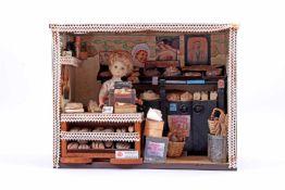 Miniatuur winkeltje bakkerij 26 cm hoog, 34 cm breed, 18,5 cm diep
