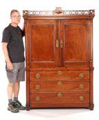 Dutch oak Empire diaper cabinet 185 cm high, 125.5 cm wide, 50 cm deep