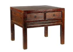 Oriental wooden table with 4 drawers, 81.5 cm high, top size & nbsp; 105x86 cm