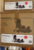 6 x Beep twist travel system, RRP £1800.00