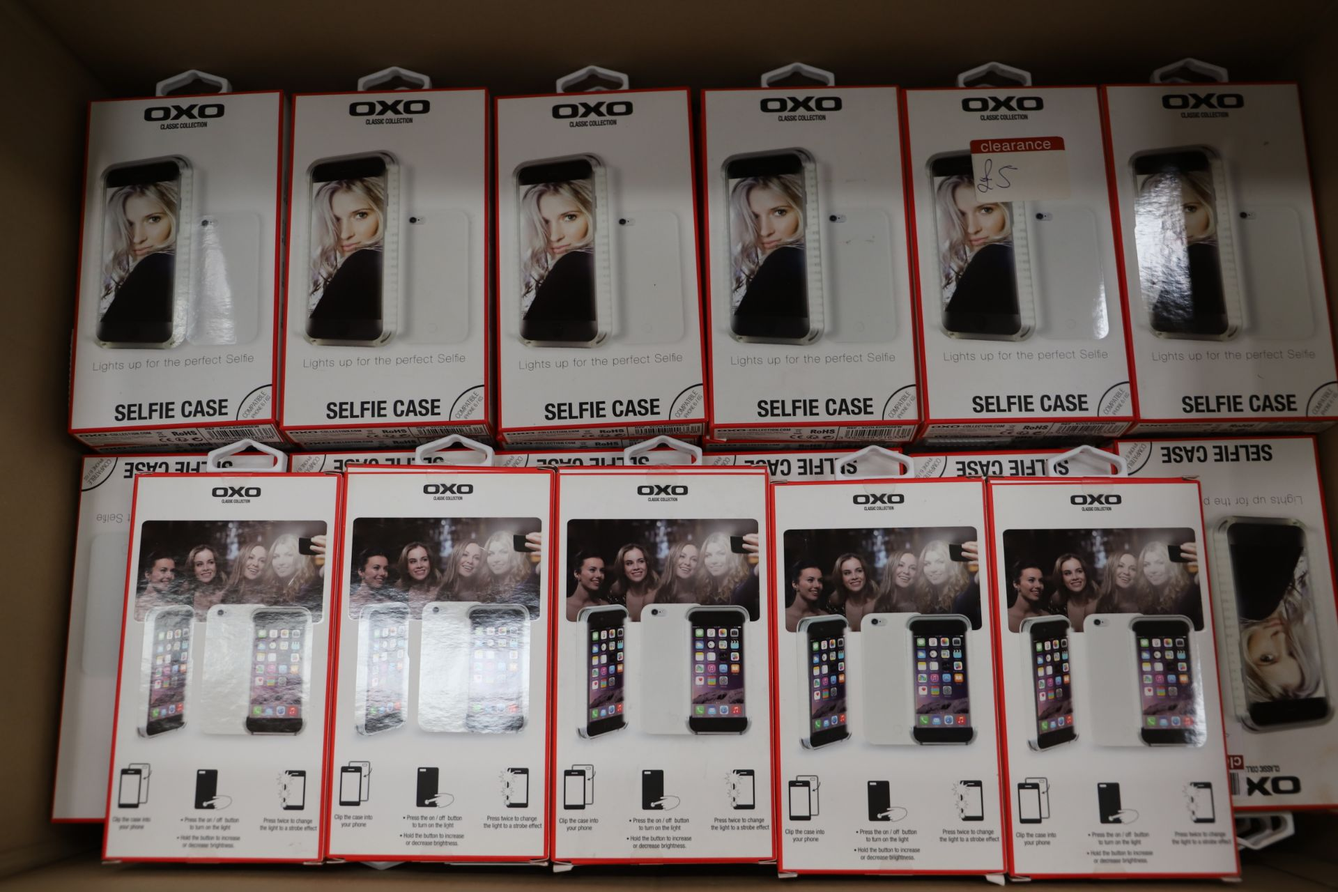 Lot 17 - *No Reserve* 119 LEDlightup selfie case for Iphone white, RRP £1785.00