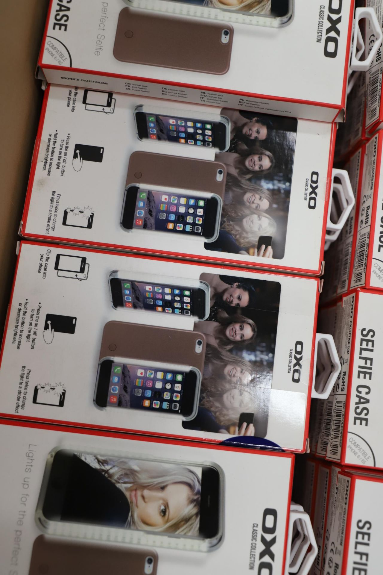 Lot 16 - *No Reserve* 121 LEDlightup selfie case for Iphone Rose gold, RRP £1815.00