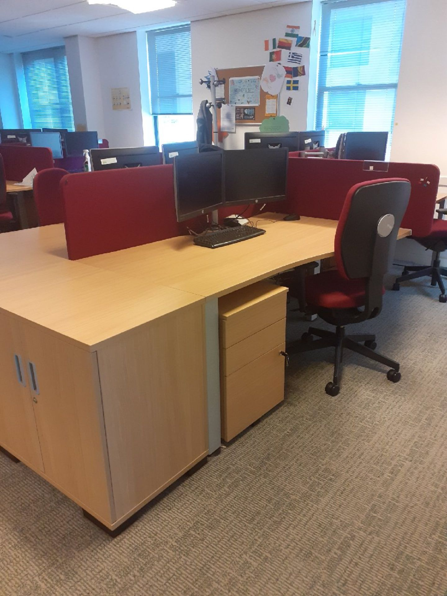1 x Bank of 6 office desk/workstations & 3 x Banks of 8 office desks/workstations. - Image 3 of 3