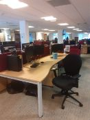 1 x Bank of 6 office desk/workstations & 3 x Banks of 8 office desks/workstations.